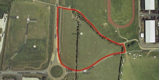 Aerial image of Land at Portal Road, Melksham, SN12 6FL